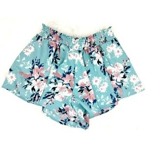 Altar'd State Floral Flowy Boho Pull On Shorts